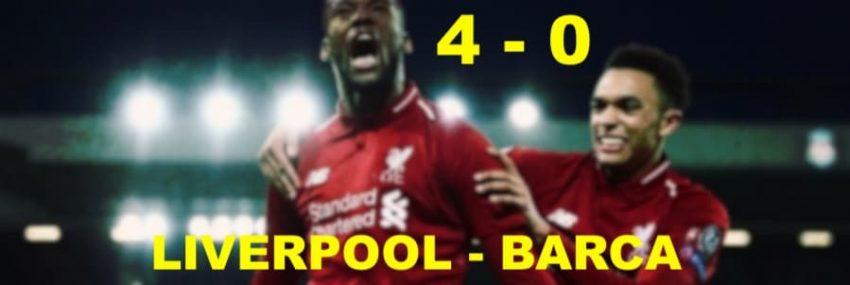 Champions League: il Liverpool batte 4-0 il Barça in una rimonta storica raggiungendo la finale